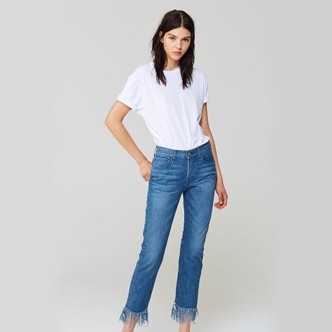 WM3 Crop Fringe Jeans