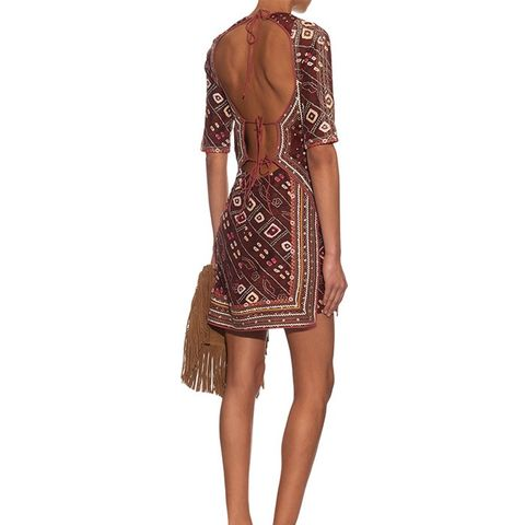 Tacey Open-Back Printed Dress