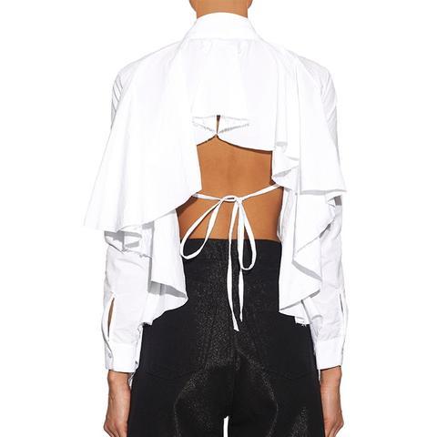Open-Back Ruffled Shirt