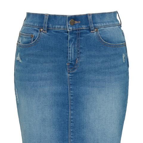 Cuff Off Denim Mini Skirt