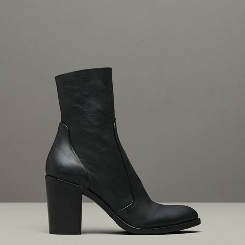 Tucker Pebbled Leather Ankle Boots
