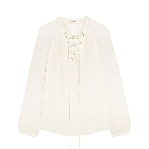 Benny Cutout Silk and Georgette Blouse