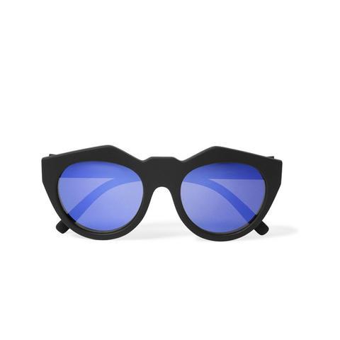Neo Noir Cat-Eye Rubber Sunglasses