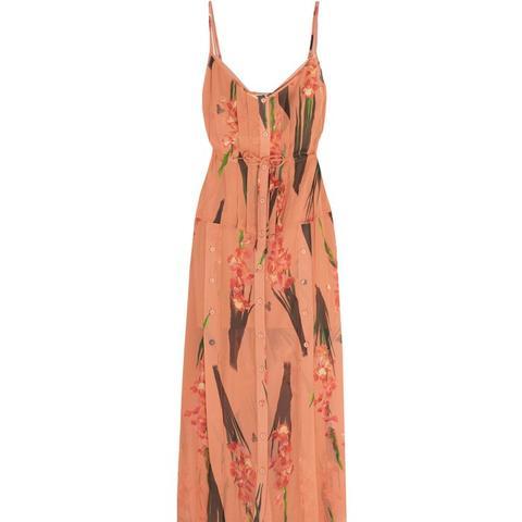 Selwyn Floral-Print Silk-Georgette Maxi Dress