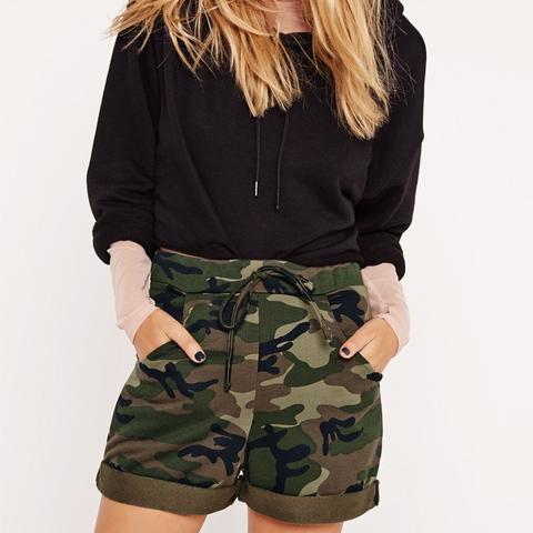 Camo High Waisted Shorts