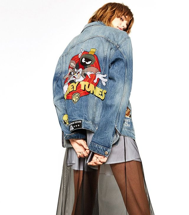 Zara Looney Tunes Denim Jacket