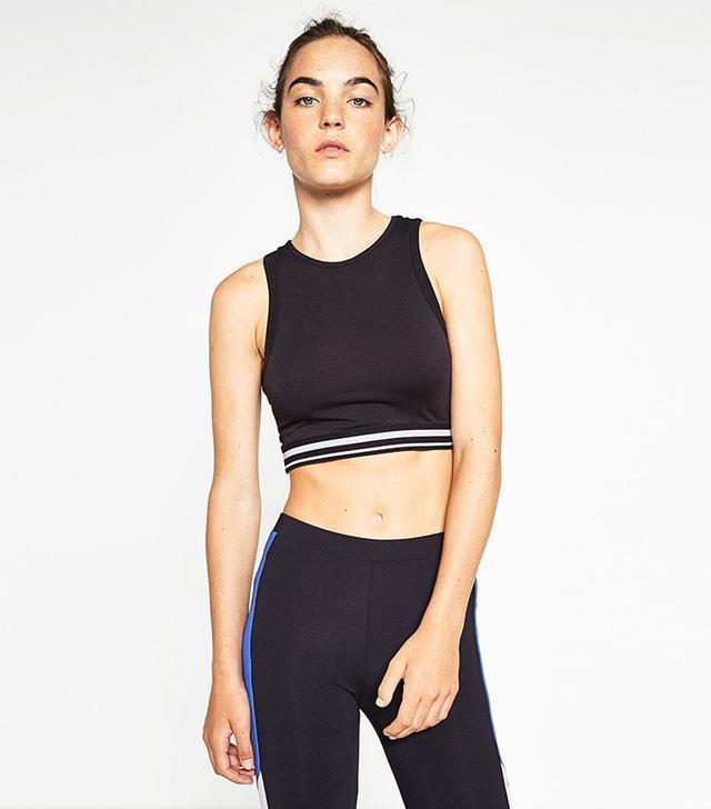 Zara Cropped Stretch Top