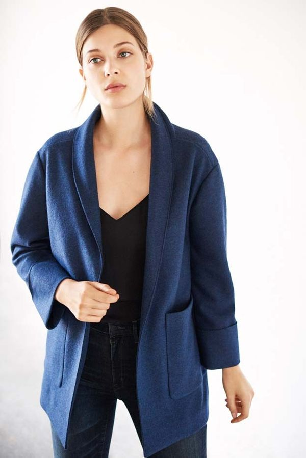 Go the Parisian route with a roomy jacket.