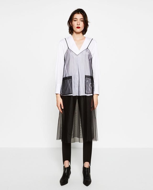 Zara Tulle Overshirt