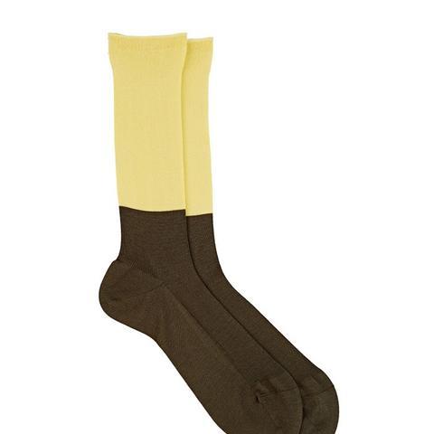 Colorblocked Long Trouser Socks