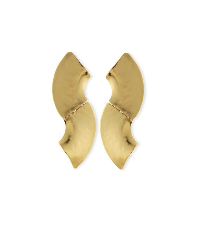 Stephanie Kantis 24K Gold-Plated Wave Earrings