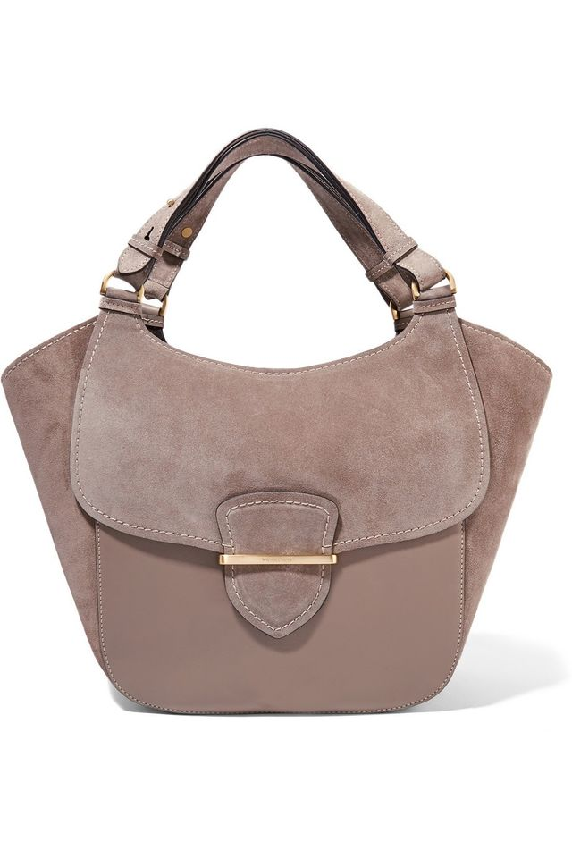 Michael Kors Collection Josie Suede and Leather Tote