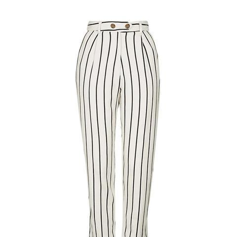 Striped Mensy Peg Trousers