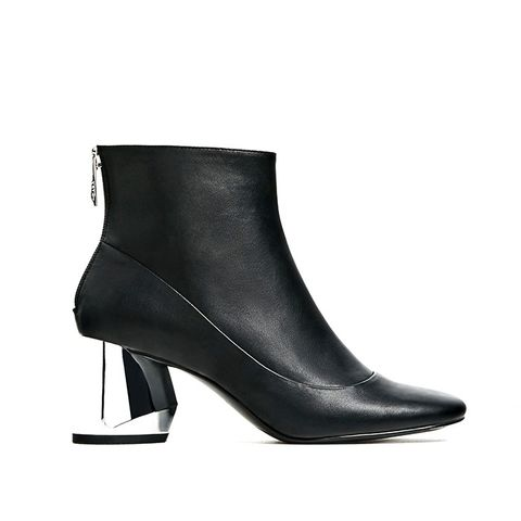 Ankle Boots With Metal Heel