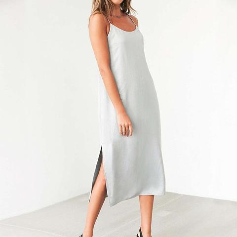 Sadie Satin Midi Slip Dress