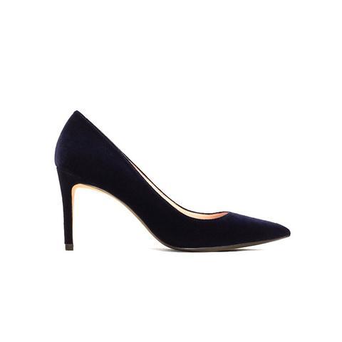 Velvet Heeled Shoes