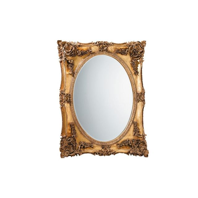 Laura Ashley Beth Gold Antiqued Mirror in Gold