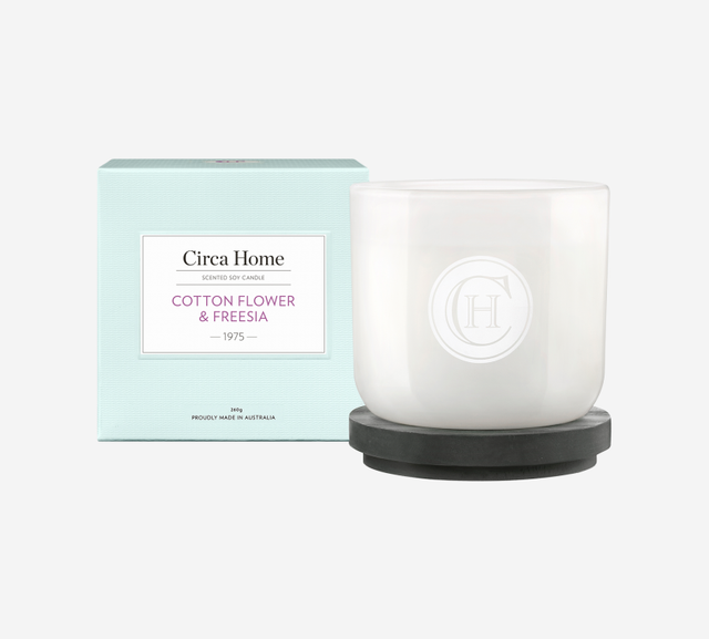 Circa Home Cotton Flower & Freesia Candle