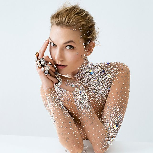 Karlie Kloss Wears a Crystal Bodysuit in Swarovski's Latest Campaign