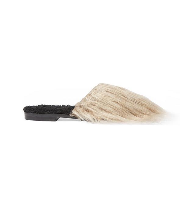Avec Modération Aspen Mongolia Faux Fur and Shearling Slides