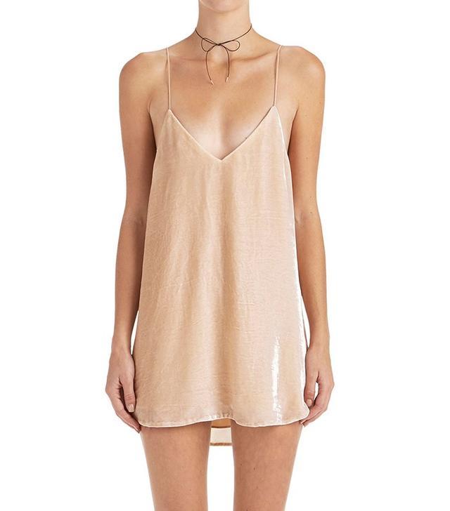 Are You Am I Crushed Velvet Zillah Slip Dress