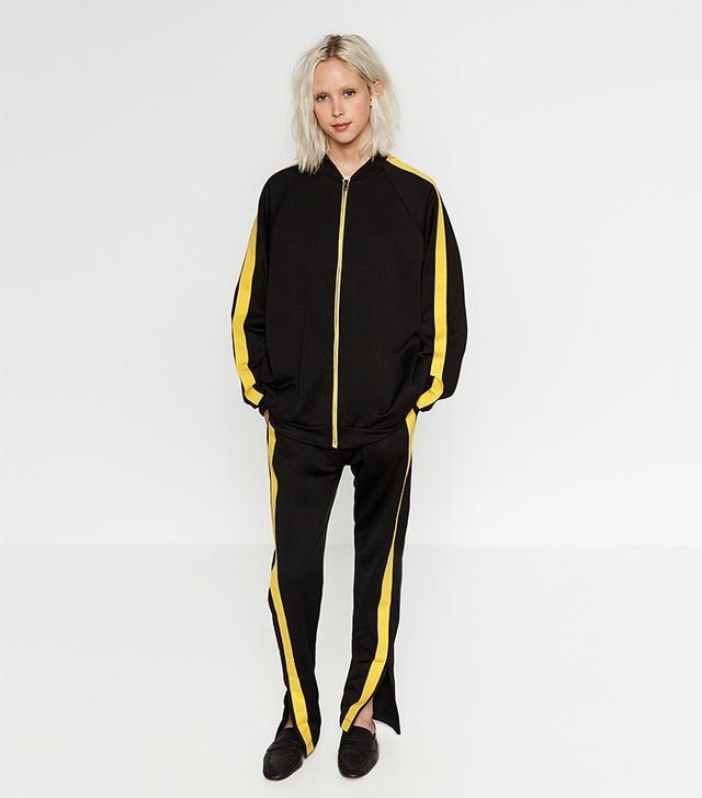 Zara Yellow Stripe Sweatshirt