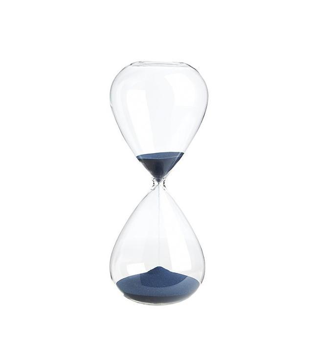 CB2 Navy Hour Glass