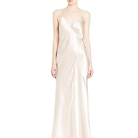 Satin Wrap Gown