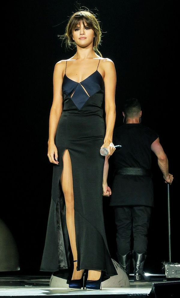 On Selena Gomez: Galvan dress.