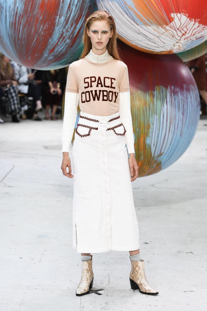 Ganni runway space cowboy