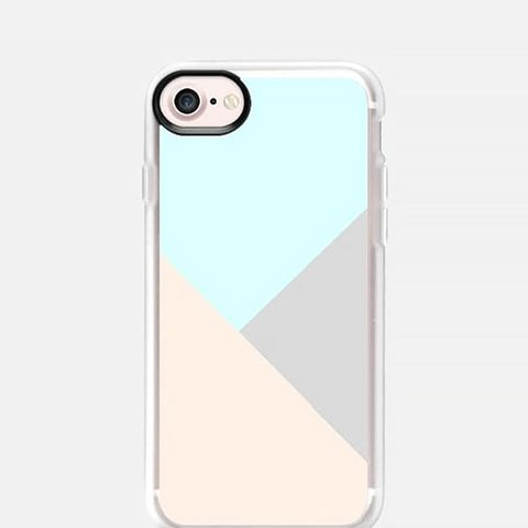 Pastel Blue Grey Color Block Phone Case