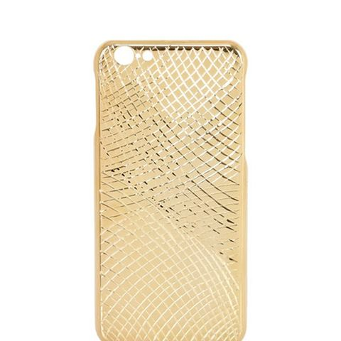 Lizard Gold Pleated iPhone 6 Case