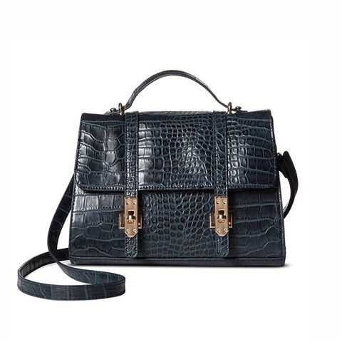 Mini Croc Top Handle Bag