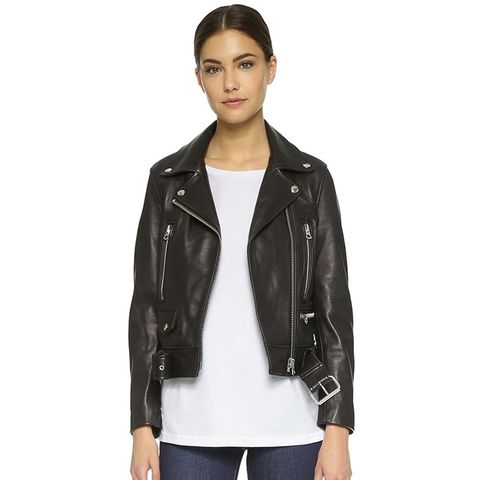 Mock Leather Moto Jacket