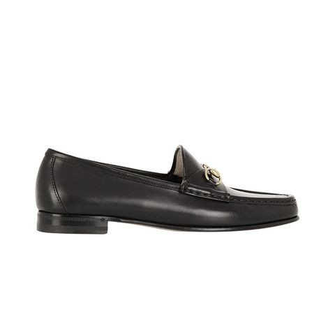 Horsebit Detailed Leather Loafers