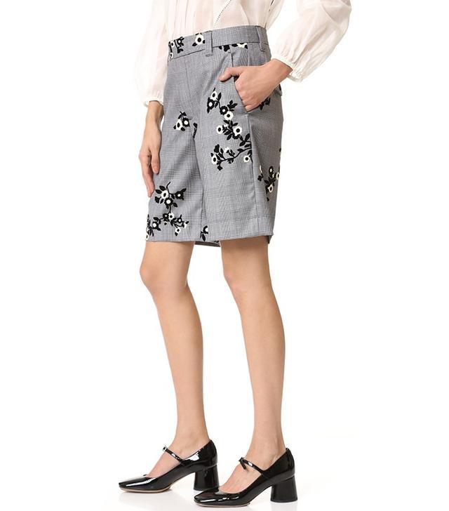 Marc Jacobs Floral Flocked Shorts