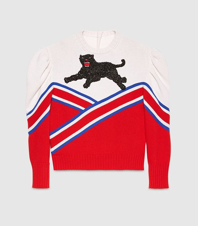 Gucci Embroidered Wool Top