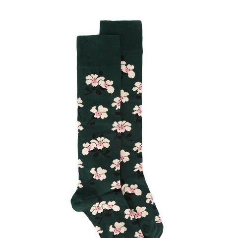 Floral Jacquard Socks