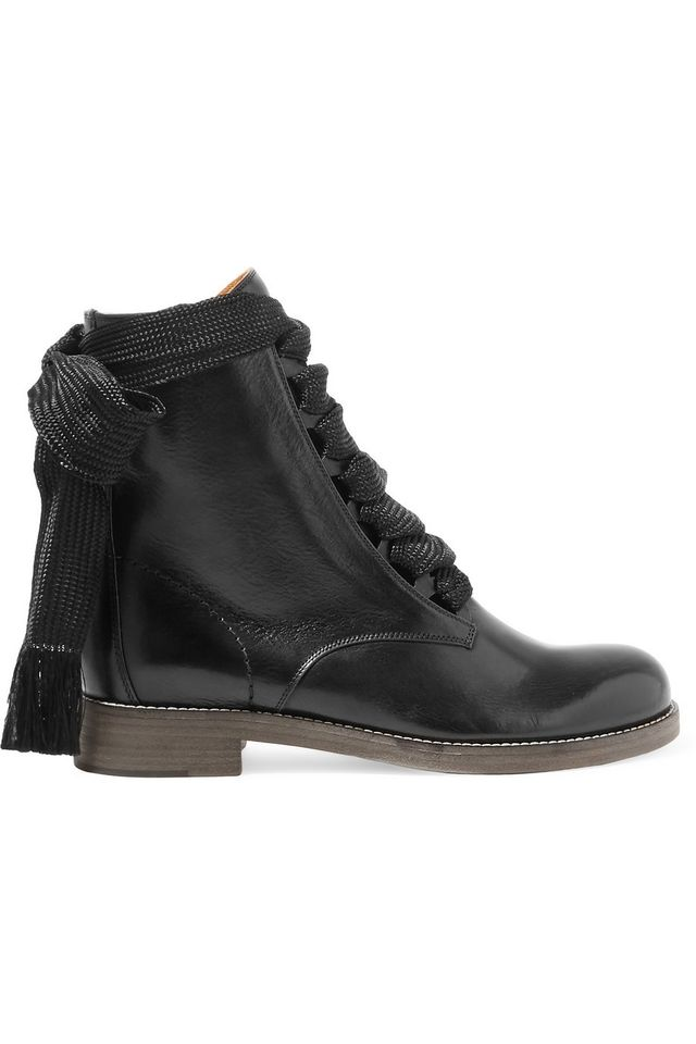 Zara Flat Military Ankle Boots