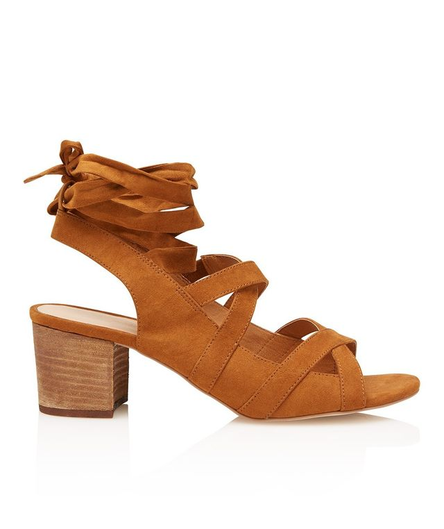 Mango Contrast Heel Sandals