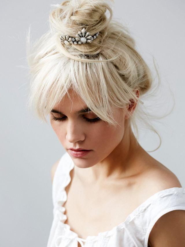 Free People Deco Wing Bun Cuff