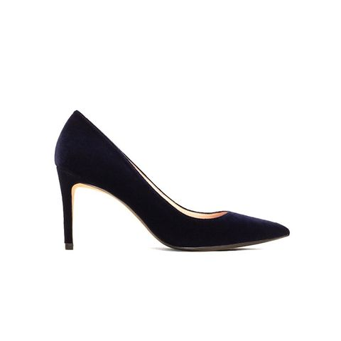 Velvet Heeled Shoes
