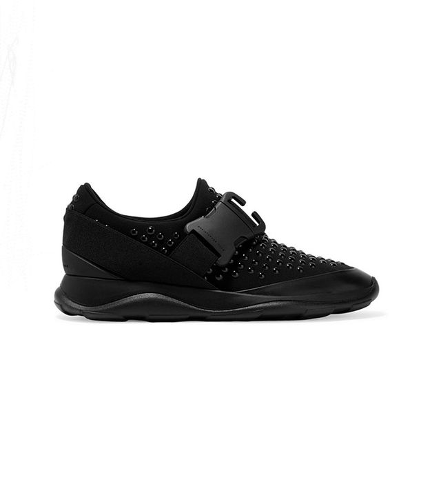Christopher Kane Studded Neoprene and Leather Sneakers