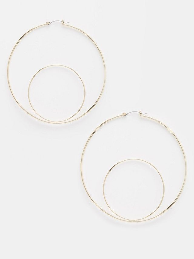 ASOS Double Circle Hoop Earrings