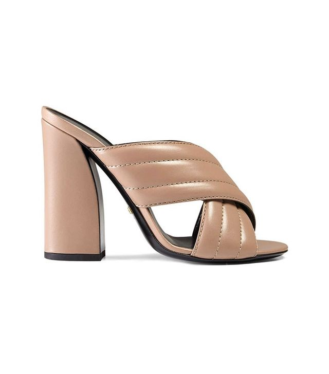 Gucci Leather Crossover Sandals