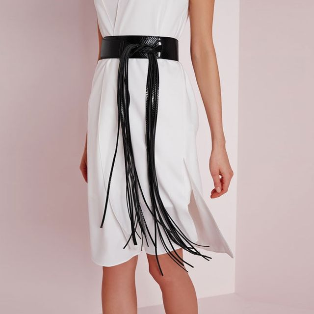 Missguided Long Tassel Belt