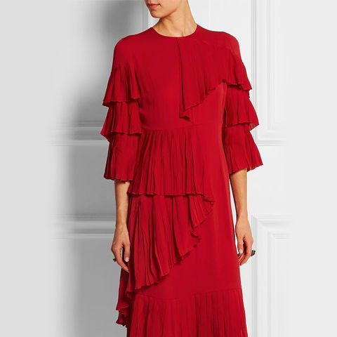 Ruffled Silk-Georgette Dress
