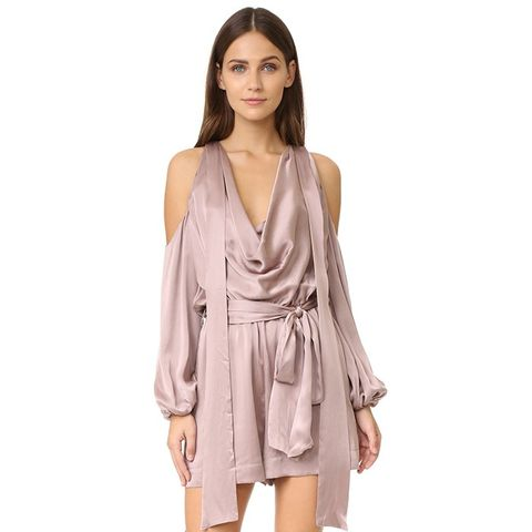 Sueded Billow Playsuit