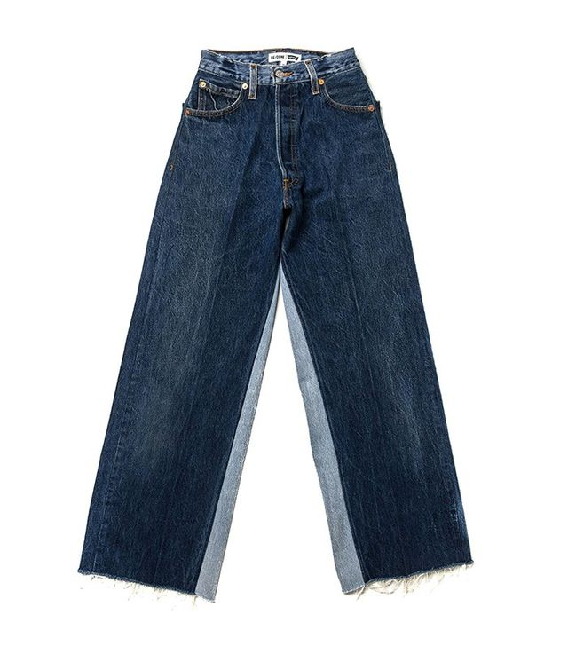 Re/Done | Levi's The Wide Leg Patch Jeans