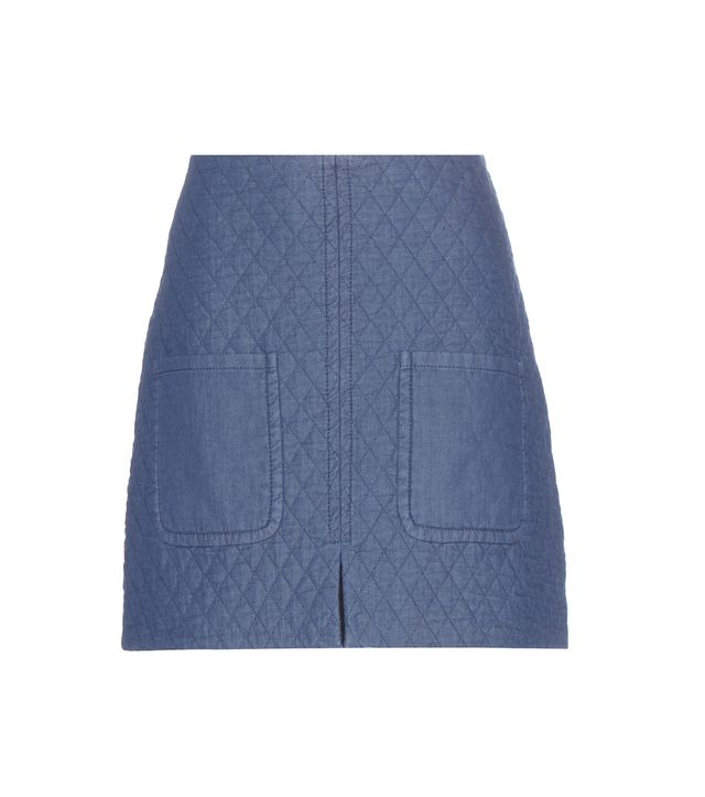 See By Chloé Quilted Cotton Miniskirt